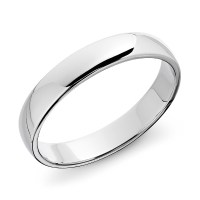 Classic Wedding Ring in 14k White Gold (4mm) | Blue Nile