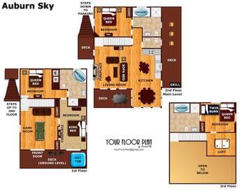 Floor Plan at Auburn Sky in Shagbark TN