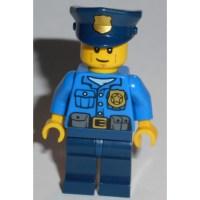 LEGO Blue Policeman Torso with Golden Badge (76382) Comes ...