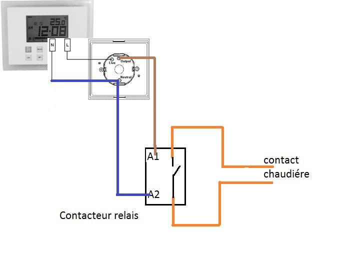 baseboard thermostat schema cablage