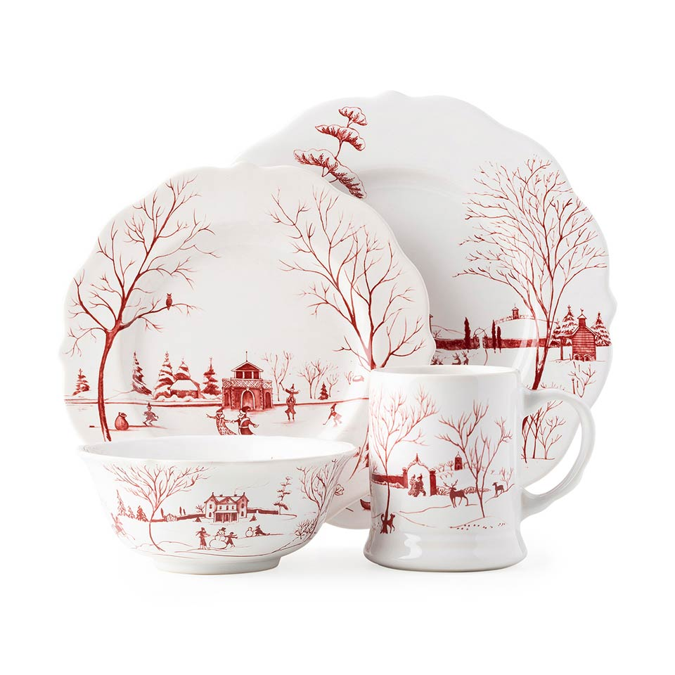 Juliska Country Estate Winter Frolic Ruby 4pc Setting Price 198 00 In Pittsburgh Pa From Glassworks And Cheeks