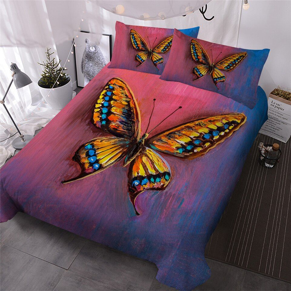 3d Butterfly Dac121103 Bedding Set Sewhic