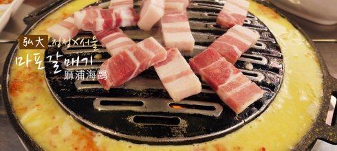 [韓國] 弘大美食,麻浦海鷗,香辣帶勁的橫隔膜烤肉