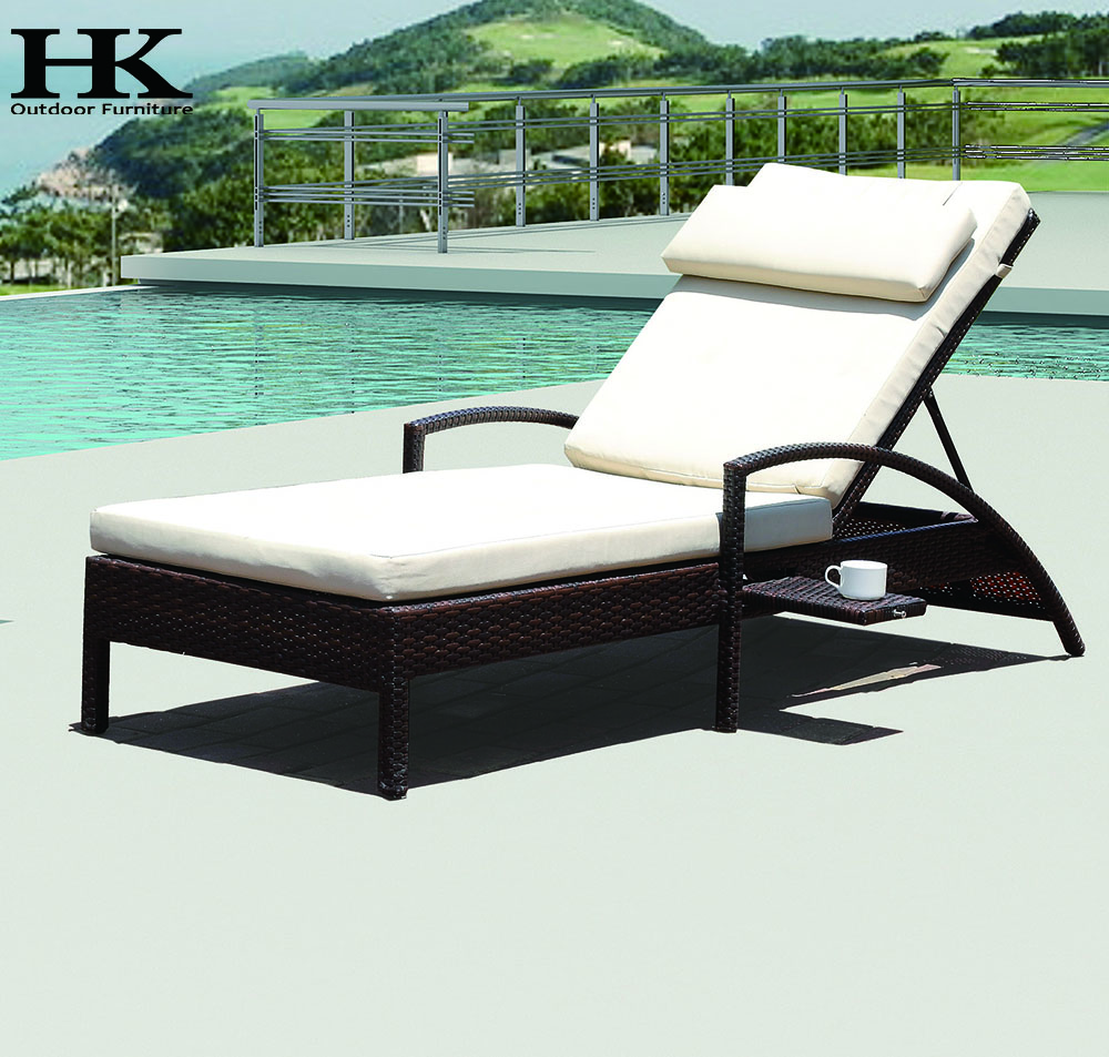 Outdoor Garden Sun Lounger Rattan Wicker Furniture Aluminum Lounger Patio Cane Garden Outdoor Lounge On Buildmost