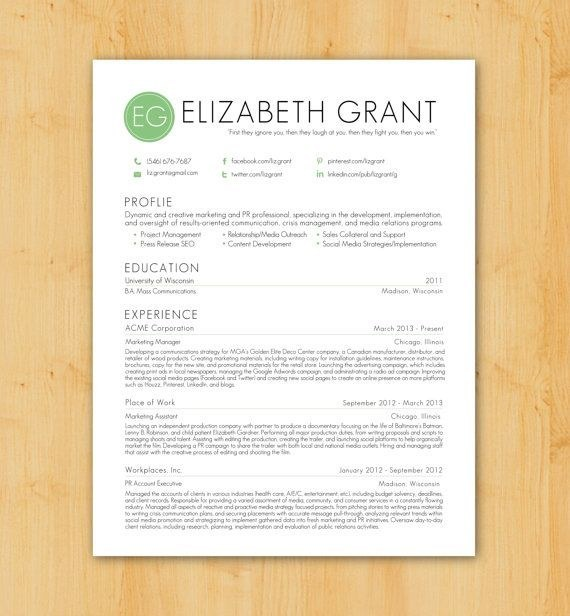 etsy resume template download