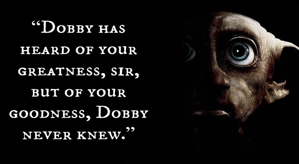 Dobby Quotes Wallpaper 20 Magical Quot Harry Potter Quot Quotes As Motivational Posters