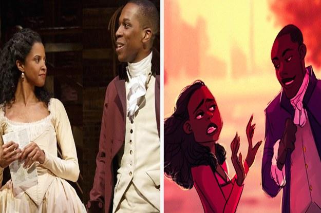 Hamilton Musical Quotes Wallpaper Someone Drew Quot Hamilton Quot As A Disney Movie And It S Amazing