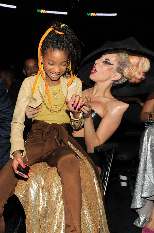 Also she hung out with baby Willow Smith.