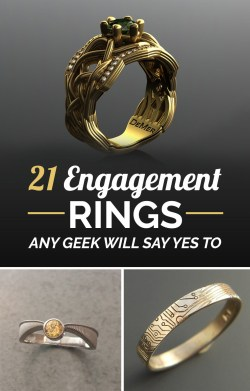 Small Of Nerdy Engagement Rings