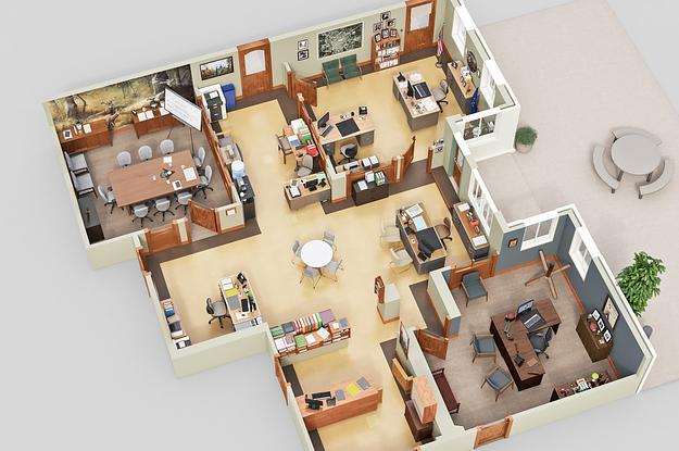 7 Incredible 3D Floor Plans Of Your Favorite TV Shows - 3d house plans