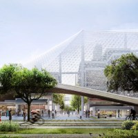 Google's Giant New Dome HQ Rivals Apple's Massive Spaceship Campus