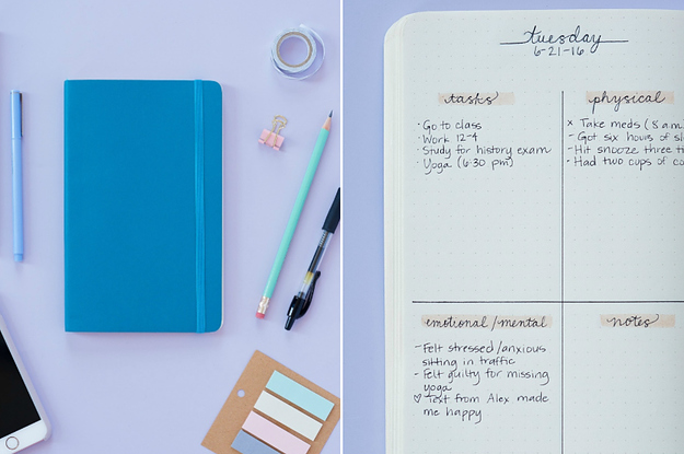 Here\u0027s How To Use A Bullet Journal For Better Mental Health