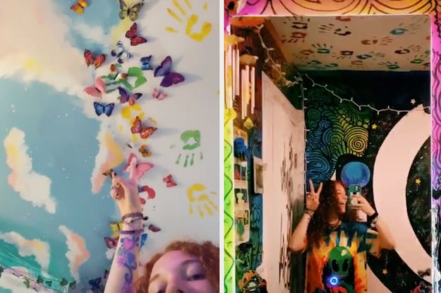 This Artist S Room Tour Went Viral On Tiktok Because Her Decor Is A Trip