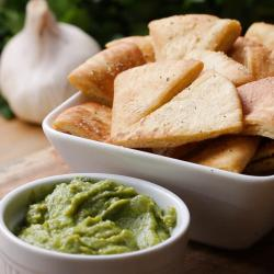 Modern Classic Pita Chips Recipe By Tasty Healthy Alternative To Tortilla Chips Healthy Alternative To Chips Recipes
