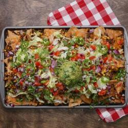Awesome Loaded Vegetarian Nachos Recipe By Tasty Vegetarian Mexican Recipes Australia Vegetarian Mexican Recipes By Tarla Dalal