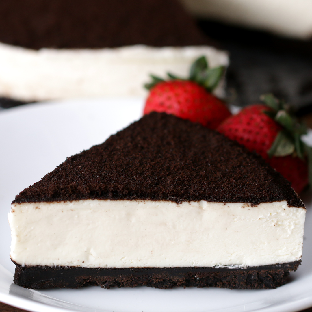 No Bake Oreo Kuchen No Bake Cookies And Cream Cheesecake Recipe By Tasty