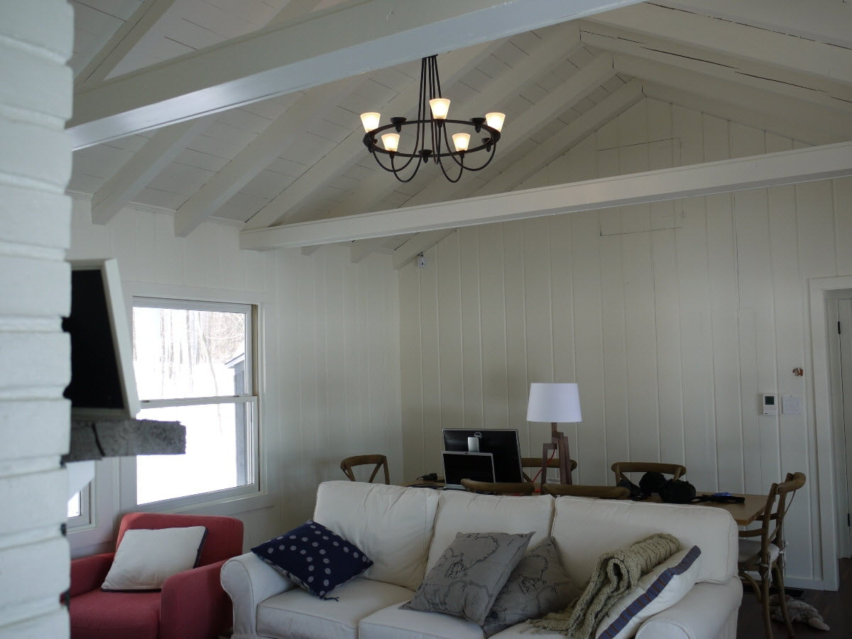 Painted Wood Ceilings How To Paint Wood Paneling Cabin Diy