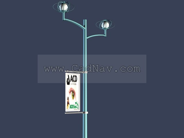 Spotlight Lamp Billboard Advertising Street Lights 3d Model 3ds Max Files