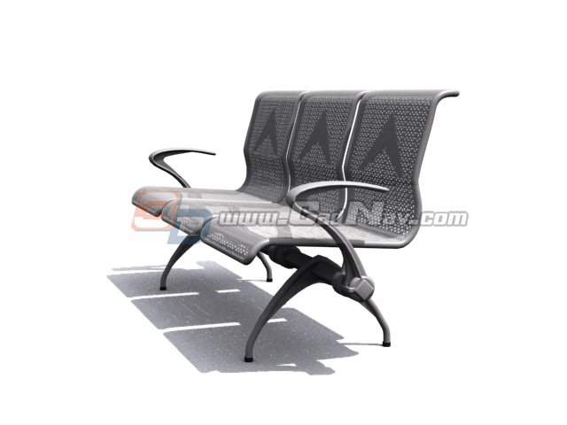 Sofa 3d Modeling Stainless Steel Waiting Chair 3d Model 3dmax,3ds Files Free Download - Modeling 3020 On Cadnav