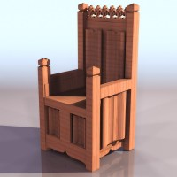 Medieval throne chair 3d model 3ds files free download ...
