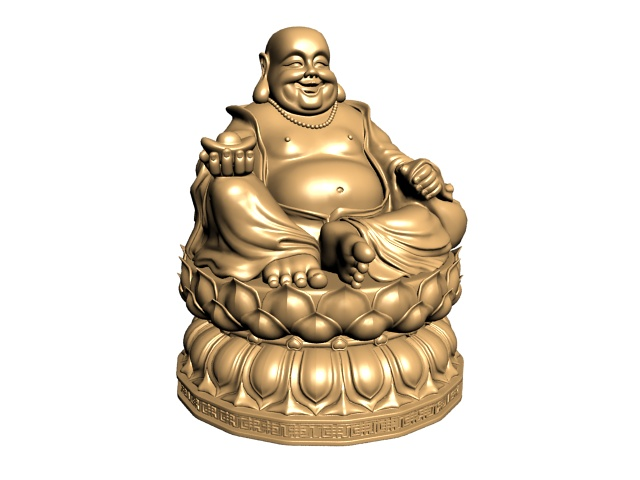 Lion Wallpaper In 3d Happy Buddha Statue 3d Model 3ds Max Files Free Download
