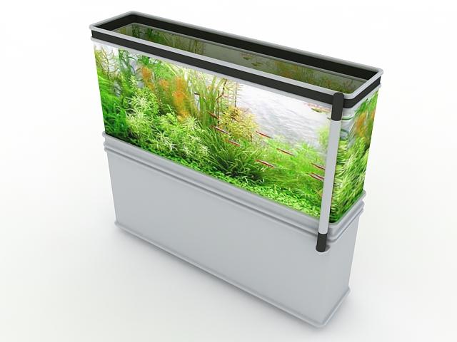White Aquarium Cabinet 3d Model 3ds Max Files Free