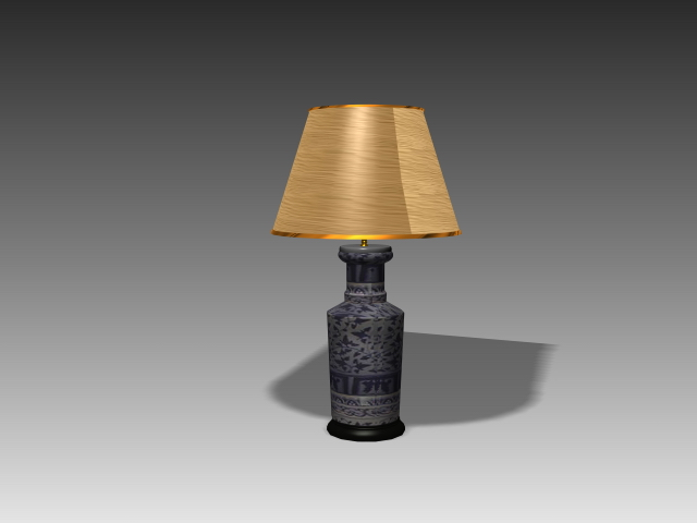 Ceramic Pendant Light Rustic Table Lamp 3d Model 3d Studio,3ds Max,autocad