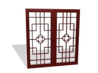 Chinese lattice window panels 3d model 3ds max files free ...