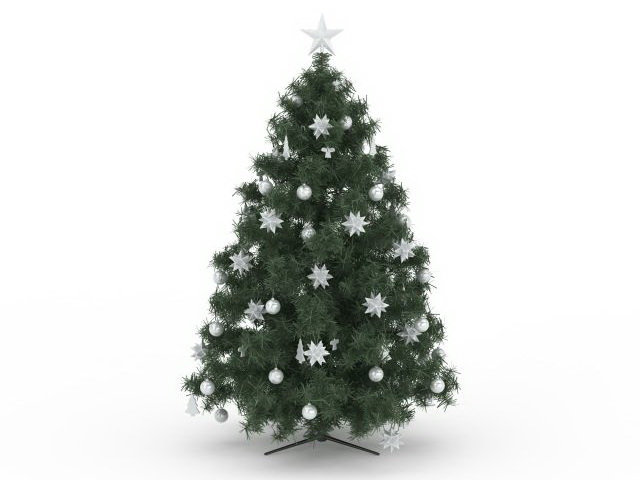 Artificial Christmas tree 3d model 3ds max files free download