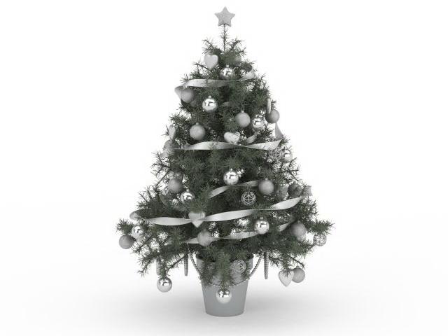 Elegant Christmas tree 3d model 3ds max files free download
