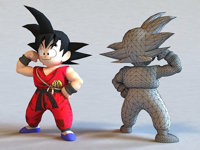 Girl And Boy Wallpaper Free Download Dragon Ball Kid Goku 3d Model 3ds Max Files Free Download