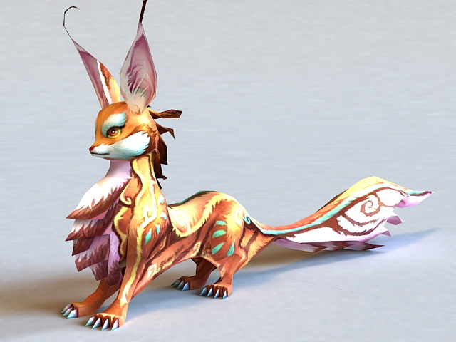3d Wallpaper For Kitchen Mythical Fox Creature 3d Model 3ds Max Files Free Download