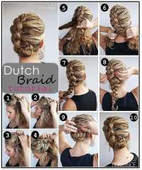 Dutch Braid Updo Hairstyle Tutorial - Casual - Careforhair ...