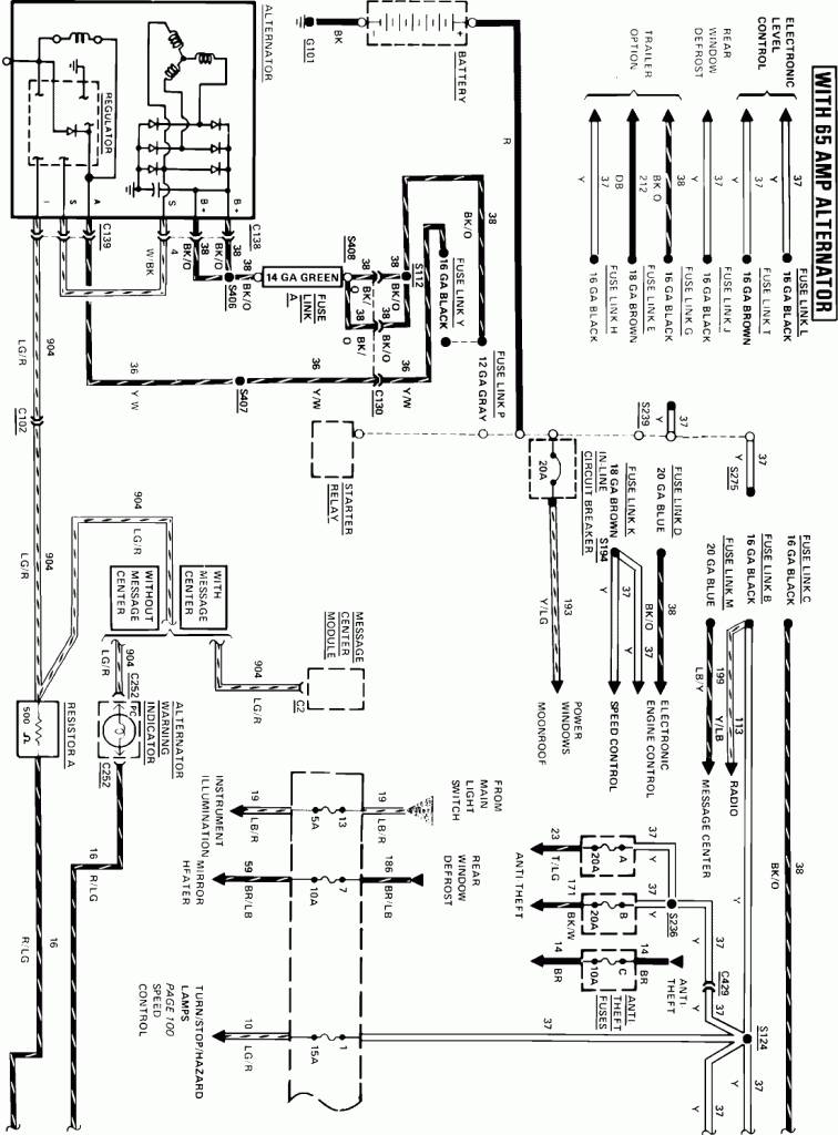 1985 corvette radio wiring diagram