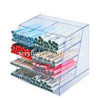 Clear acrylic pen holder, transparent lucite pen display ...