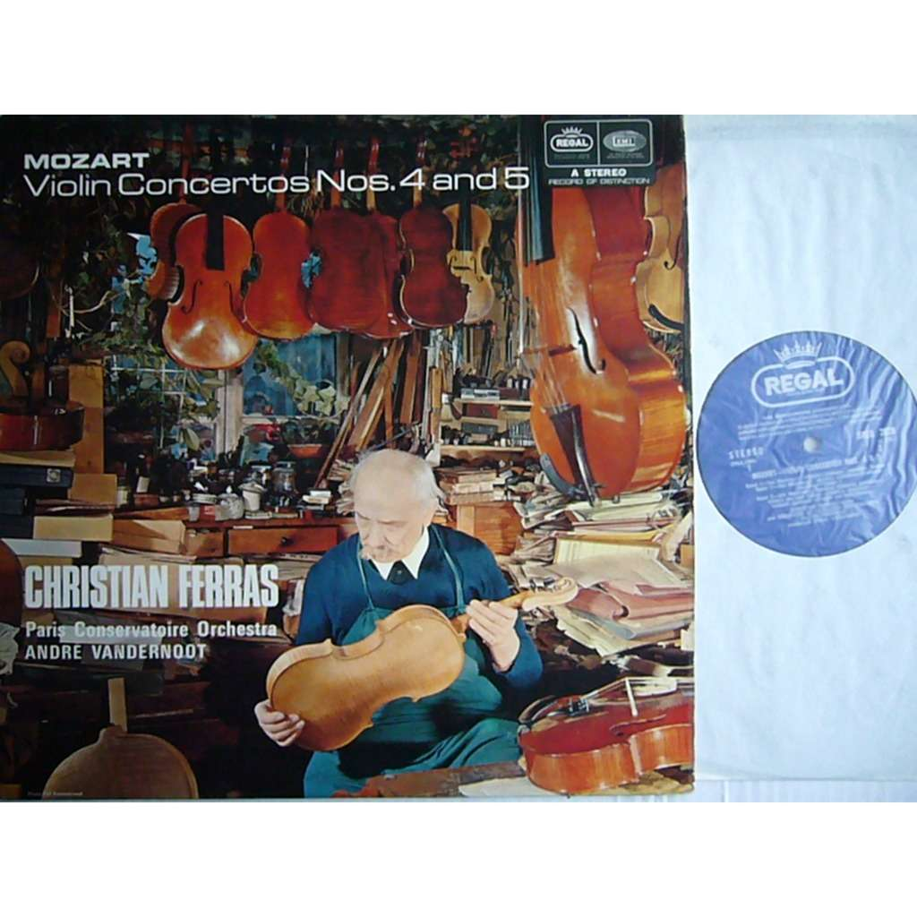 Lp Regal Christian Ferras Mozart Violin Concertos 4 5 Vandernoot Uk Regal Speg 2028 Ex