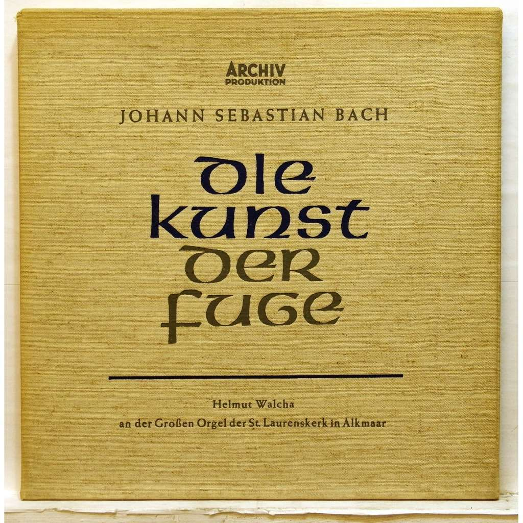 Die Kunst Helmut Walcha Js Bach Die Kunst Der Fuge The Art Of Fugue Bwv 1080