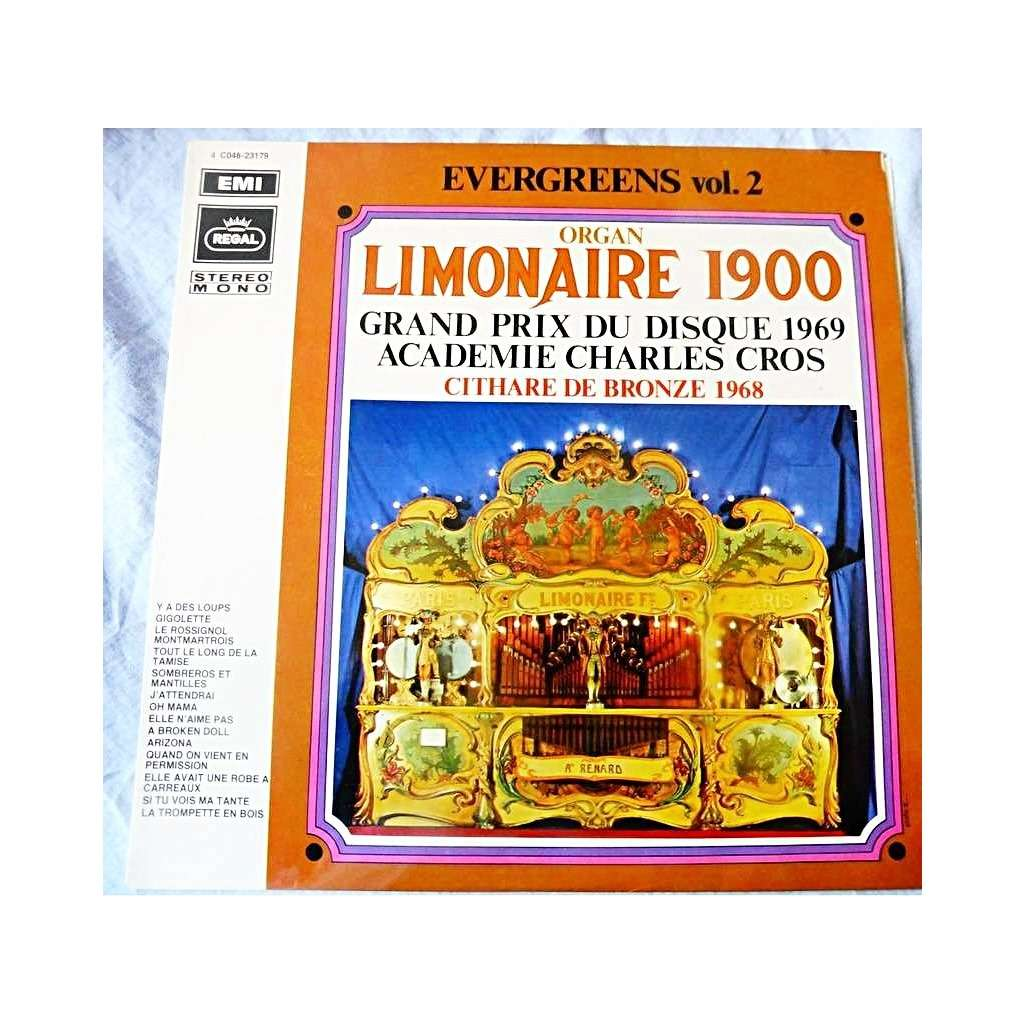 Lp Regal Organ Limonaire 1900 Evergreens Vol 2