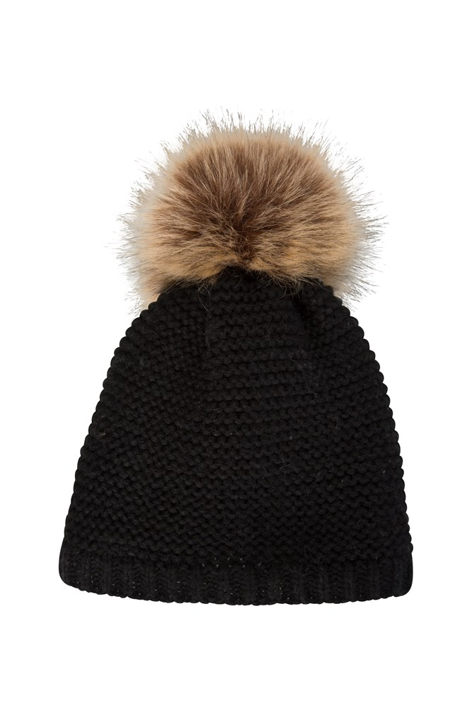 Fur Womens Geneva Fur Lined Womens Fluff Beanie
