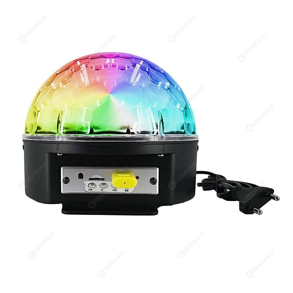 Wandleuchte Led Diy Bluetooth Mp3 Crystal Magic Rotating Ball 9 Colors Led Rgb Disco
