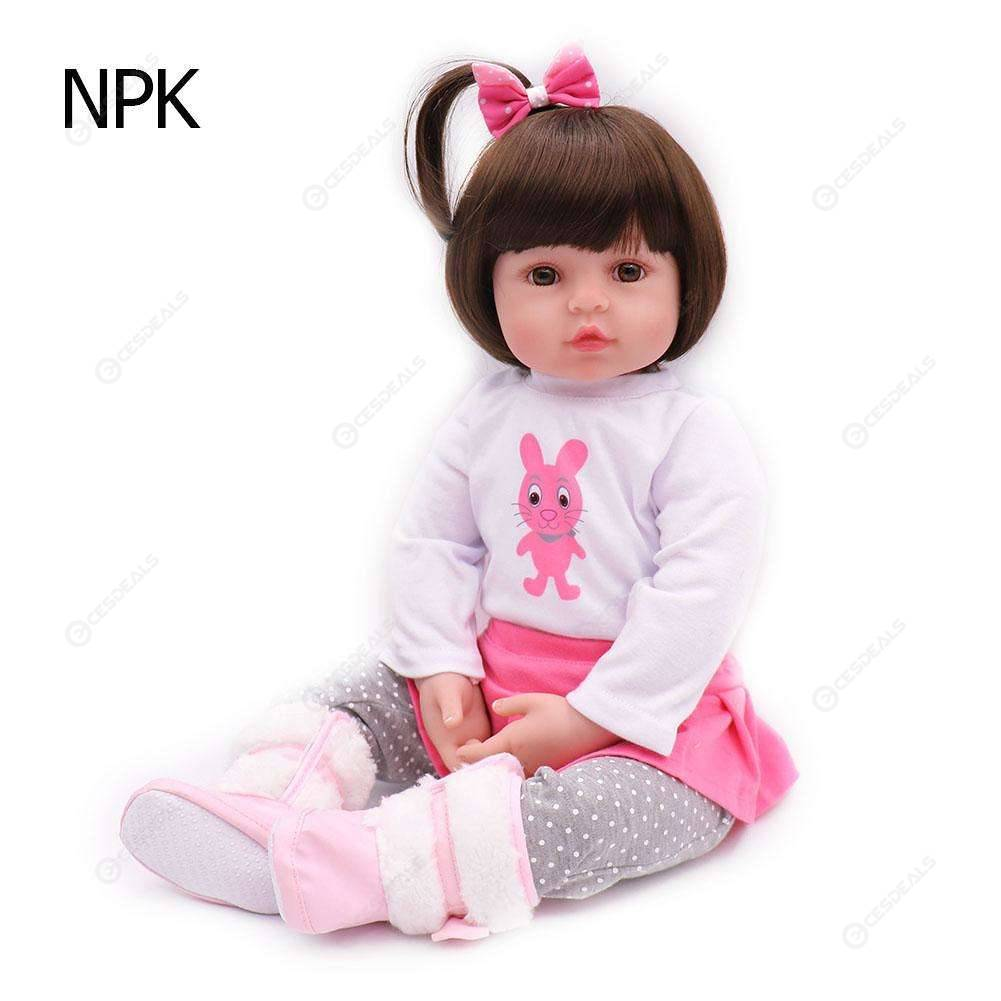 Newborn Babies Online Shopping Simulation Newborn Baby Lifelike Reborn Doll Toy For Girl Kid Gift 60cm