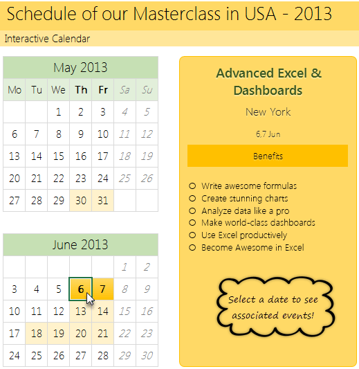 How To Make A Calendar On Excel The Easiest Way To Make A Calendar In Excel Smartsheet How To Create Interactive Calendar To Highlight Events