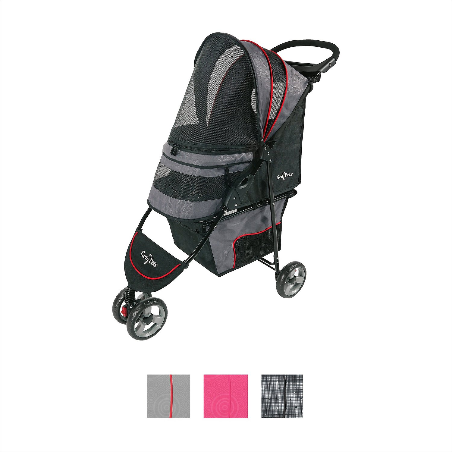 Dog Strollers Chewy.com Gen7pets Regal Plus Pet Stroller Gray Shadow Chewy