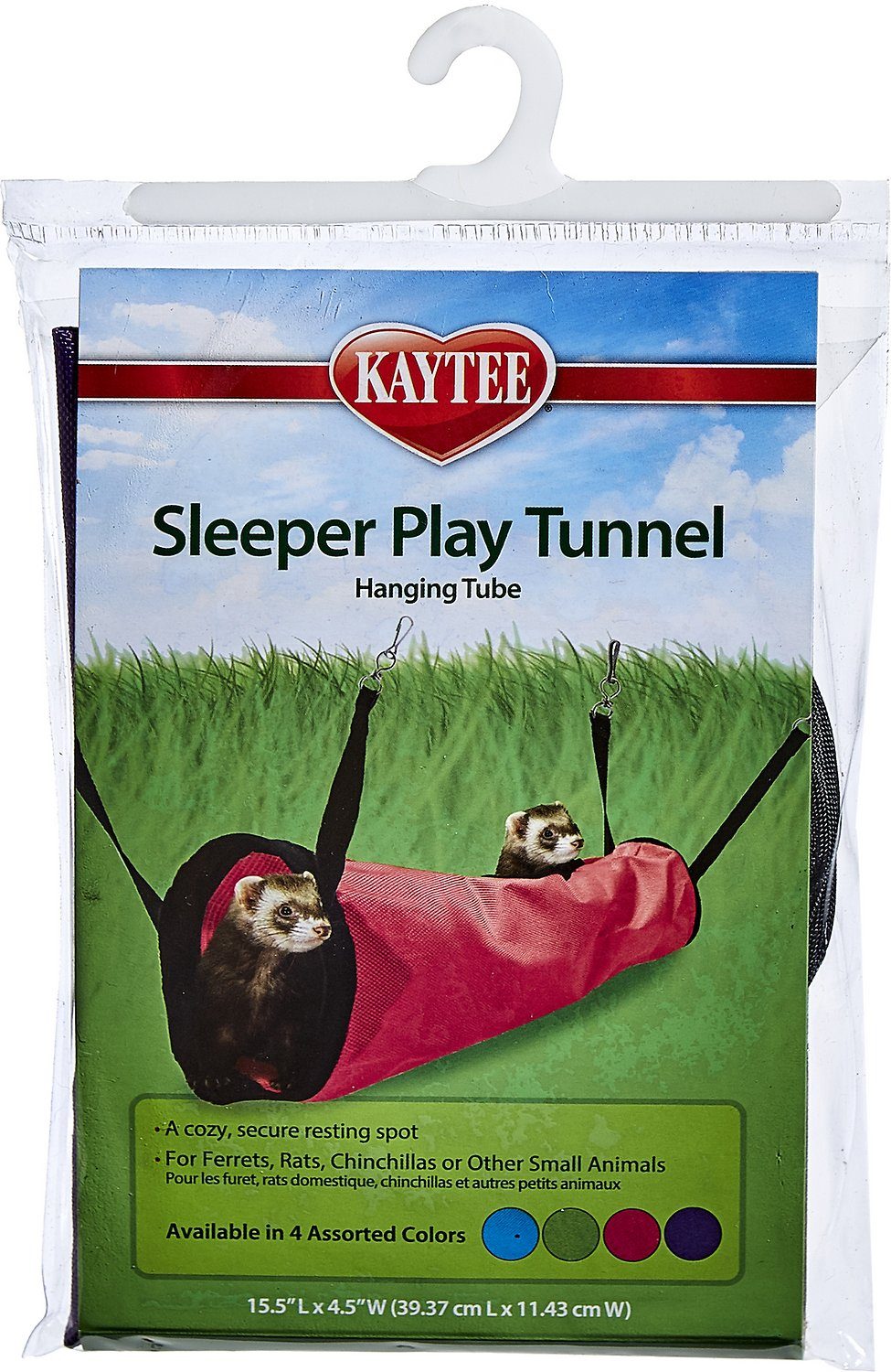 Tunnel Pour Animaux Kaytee Simple Sleeper Small Animal Play Tunnel Assorted Colors 15 5 In
