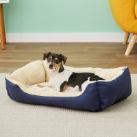 ASPCA Microtech Cuddler Dog Bed, Blue - Chewy.com