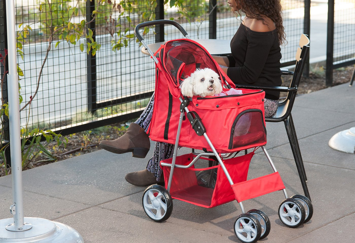 Dog Strollers Chewy.com Paws Pals Folding Dog Cat Stroller Red Chewy