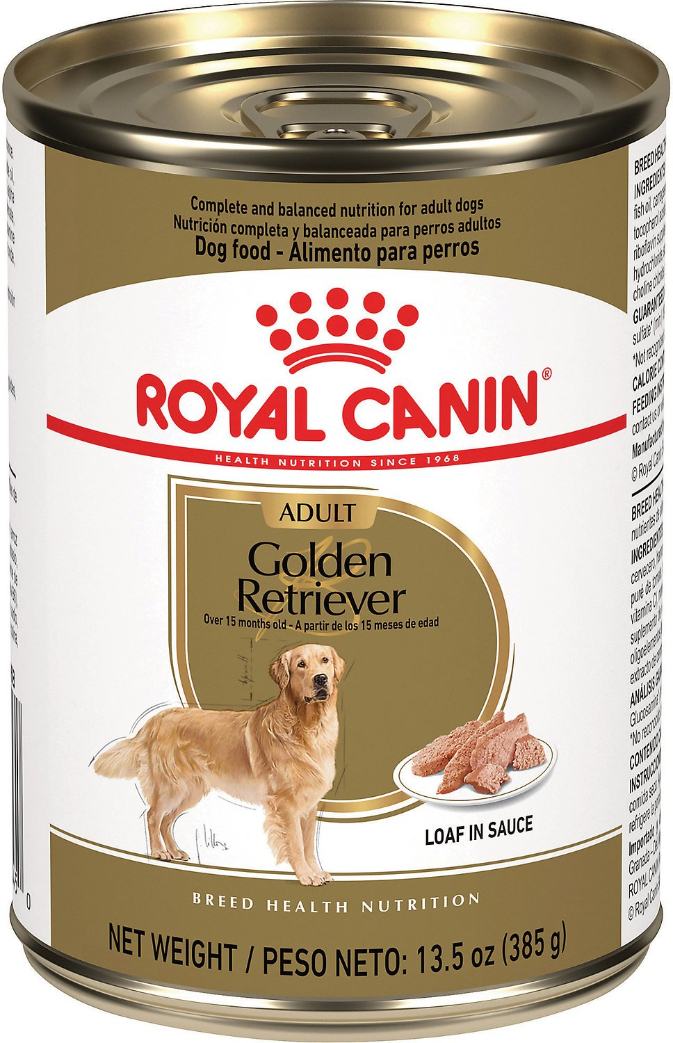 Golden Retriever 2 Meses Royal Canin Golden Retriever Loaf In Sauce Canned Dog Food 13 5 Oz Case Of 12