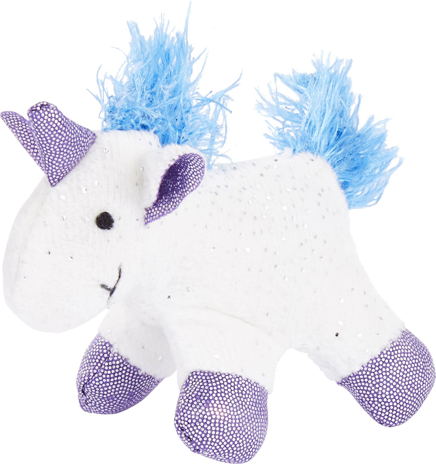 Cat Plush Toy Pet Zone Sapphire Unicorn Cat Toy Small