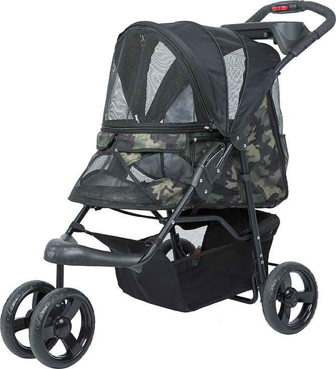 Dog Strollers Chewy.com Petique Dog Cat Stroller Green Camo Chewy