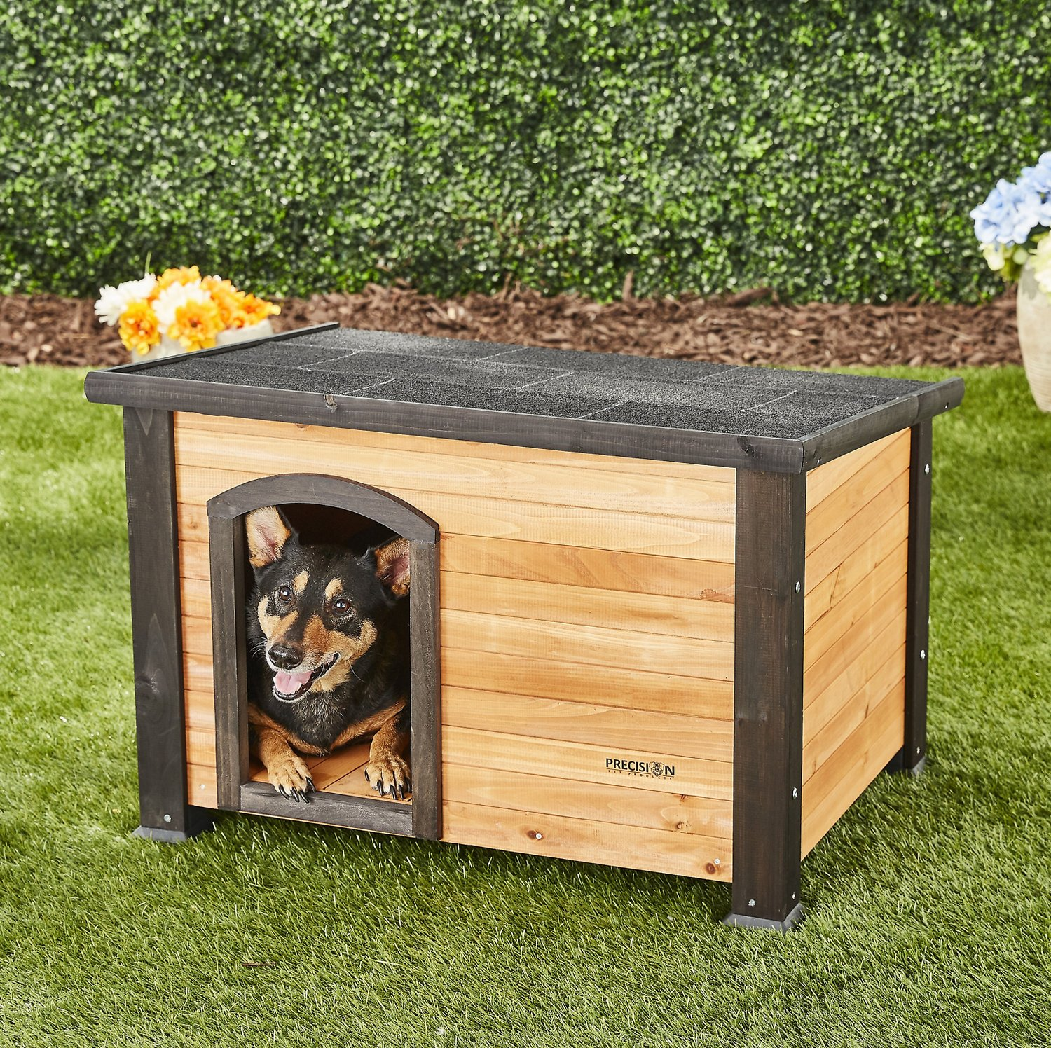 Dog House Precision Pet Products Extreme Outback Log Cabin Dog House Small